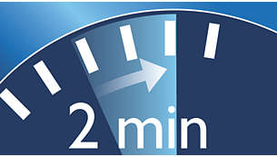 Der 2-Minuten-Timer gewährleistet die Einhaltung der empfohlenen Putzdauer.